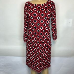 Talbots patterned pullover tunic dress size small